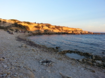 Strand in Abendsonne