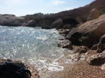 Versteckte Bucht